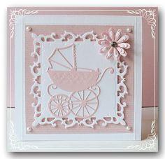 Babykarte mit Marianne Design Stanzschablone