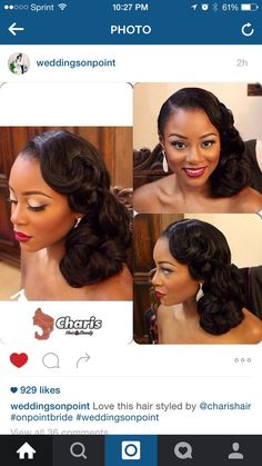 Beautiful Pin Up for the Bride! Weddings On Point. African American Wedding.