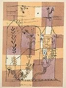 Rather than suggesting a garden in bloom, Klee's brushwork in Oriental Pleasure Garden illuminates a dynamic scene of sparkling fireworks hovering above a city. Klee created this painting in response to a visit to Tunisia in 1914, which awakened his sense of color and planted him firmly on the path toward abstraction