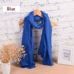 180*80cm Classic Solid Colors Scarf And Shawl For Women