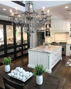 """44.4k Likes, 237 Comments - Interior Design & Home Decor (@inspire_me_home_decor) on Instagram: """"Summer's kitchen is goals! @sumhouse_sumwear"""""""