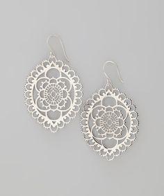 Sterling Silver Bloom Drop Earrings