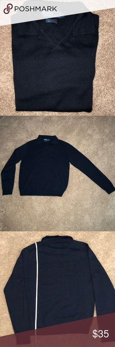 NWOT Men's Ralph Lauren Silk & Cotton Sweater M Another item my husband asked me to sell for him. Never worn RL navy blue sweater. Beautiful, he has two more that are similar so he wanted to sell this one. Polo by Ralph Lauren Sweaters V-Neck