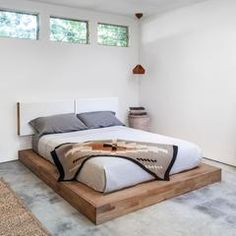 Part of the MASH Studios LAX Series,the LAX Series Platform Bed is anelegant modern bed that features an impeccably constructed silhouette, comprised of solid English walnut frame and veneered platform slats. Strong, sturdy, and visually understated, the LAX Platform Bed is a study in refined minimalism, and pairs be