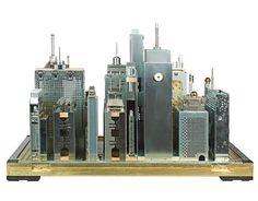 Basura electrónica Manhattan con ordenadores reciclados