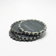 Inner Tube Bike Coasters Upcycled Bike Chain Bike Tube