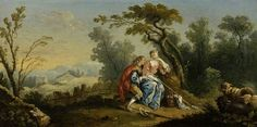 A Pastoral  by Jean-Baptiste Huet I