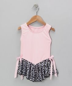 Take a look at this Pink Cheetah Velvet Skirted Leotard - Toddler & Girls by Ferreira on #zulily today!