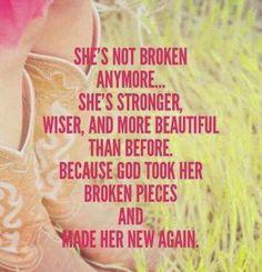 She's not broken anymore