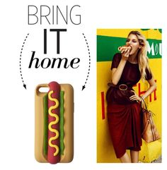 """Bring It Home: Hot Dog Phone Case"" by polyvore-editorial ❤ liked on Polyvore featuring interior, interiors, interior design, home, home decor, interior decorating and bringithome"