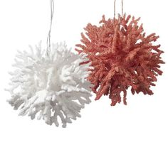 Orange White Coral Christmas Ornament s 2 | eBay