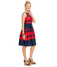 #LLBean: Signature Poplin Dress, Stripe