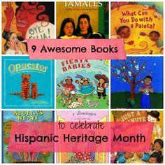 9 children's books to celebrate Hispanic heritage month for ages 0 through 8+. www.incultureparent.com