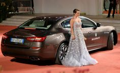 Actress Tenille Houston arrives in a #Maserati  #newQuattroporte GTS to attend 'Canyons' Premiere at #Venezia70