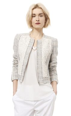 Tweed & Lace Jacket - Rebecca Taylor - LOVE the proportions and structure.