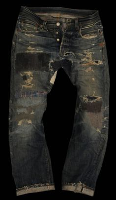 I wish I could wear out my jeans like these
