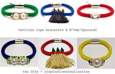 inspiration and realisation: DIY fashion blog: DIY - Vanities cord bracelets. One of the best knockoff ever. #knockoff #diy #diy_jewelry