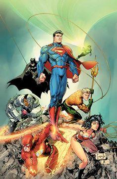 Justice League 3 by Greg Capullo DC Comics - Dangerously Cool DC Comics! Arte Dc Comics, Dc Comics Heroes, Dc Comics Characters, Comic Book Heroes, Comic Book Artists, Comic Books Art, Justice League, Marvel Dc, Comic Art Community