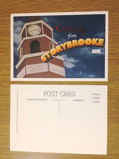 Awesome Greetings From Storybrooke postcard