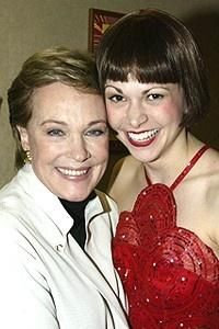 Sutton Foster and Julie Andrews. Thoroughly Modern Millie - opening night. I'm dying of awesomeness over here! I would love to meet Julie Andrews and Sutton Foster. Two of the most amazing women!