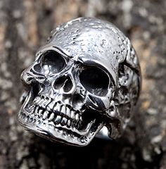With its artificially weathered finishing, our Tough Mens Skull Ring looks masculine and vintage. Our craftsmen molded it from sterling silver by had Skull Jewelry, Jewelry Rings, Jewelery, Skull Rings, Silver Jewelry, Men's Jewellery, Silver Earrings, Skull Head, Skull Art