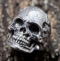 rings for men | Sterling Silver Tough Skull Head Mens Rings