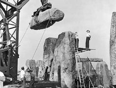 Stonehenge: Numerous restorations that have taken place for over 100 years