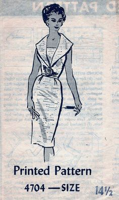 Vintage 60s Mail Order 4704 Slim WIGGLE by vintagepatternstore