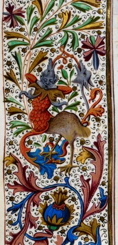 Royal 15 E IV   f. 295v   Grotesque Detail of a grotesque, from the margins of the folio. Origin: Netherlands, S. (Bruges)