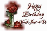 Happy Birthday Wish Just For You birthday happy birthday graphic birthday greeting birthday wishes animated birthday birthday flowers Happy Birthday Pictures, Birthday Images, Happy Birthday Wishes, Birthday Greetings, Greeting Cards, Place Card Holders, Flowers, Blouse Designs, Bucket
