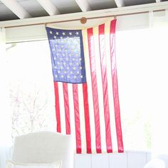 A simple take on 4th of July decor to give your home a pop of Americana.