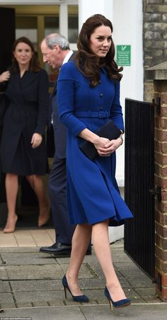 The Duchess of Cambridge returned to royal duties after her Christmas break today, visiting the Anna Freud Centre in North London - her first engagement of  2017.