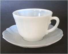 Monax depression glass | 1930s American Sweetheart Monax Glass Teacups Set of 6 for that Tea ...
