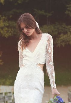 Bohemian Lace Dress Backless Long Sleeves par DaughtersOfSimone