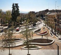 Rehabilitation of Paseo de la Bomba in Granada (Spain). By Arias Recalde and Luis Gonzalo.