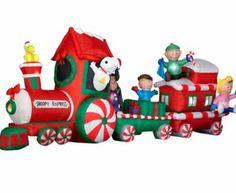 6 ft airblown inflatable santa christmas animated lighted yard ...