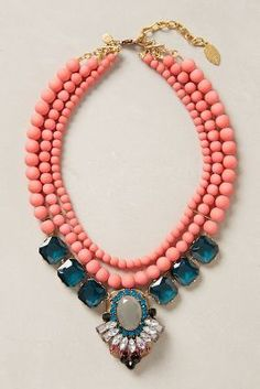 Anthropologie Gallica Bib Necklace. I love the color, matches with summer and winter outfits  #anthrofave #anthropologie.com