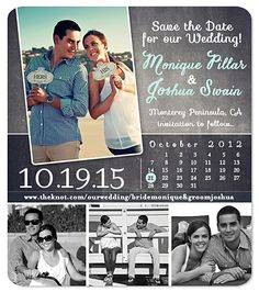 """Urban Calendar"" Chalk Save the Date Magnet"