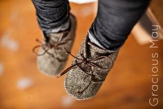 Dapper Tweed Shoes   Grey Wool Baby Boy Lace up Shoes