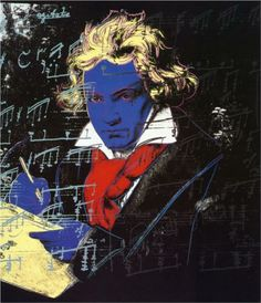 Beethoven, 1987. Andy Warhol selected subjects with great popularity, famous faces and treated the symbol and image as personal and reflective.