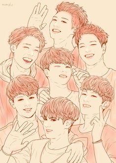 Fan Art / iKON Kim Jinhwan, Chanwoo Ikon, Hanbin, Yg Entertainment, Spiderman Civil War, Winner Ikon, Ikon Member, Superman Baby, Ikon Kpop