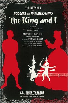 """1951 """"The King And I"""" (Broadway Poster), Yul Brunner; St. James Theatre by straatis, via Flickr"""