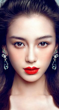 The Perfect Red Lipstick For All Skin Tones ideas 35 Beautiful Lips, Beautiful Asian Women, Angelababy, Asian Makeup, Beauty Portrait, Red Lipsticks, Pretty Face, Beauty Women, Asian Beauty
