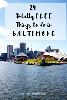 Most of you know that I love Baltimore. I'm born here, lived here (with the  exception of one year) all my life and I love it here. I'm dedicated to  seeing this city thrive and change. And if there's one thing I ADORE, it's  getting people to visit this great city. There are a TON of free things to  do in this city and I hope this encourages you to visit Charm City ASAP!