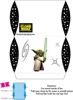 Free Printable Star Wars Yoda Favor Box