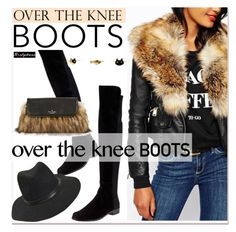 """""""Rock On: Over-The-Knee Boots"""" by paculi ❤ liked on Polyvore featuring Stuart Weitzman, Kate Spade, OverTheKneeBoots and nastydress"""