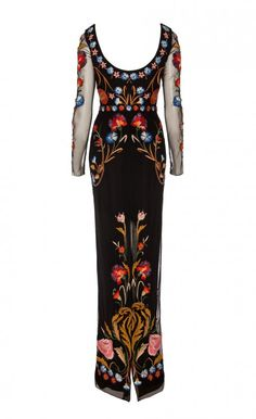 Temperley London | Black Almas Silk-satin Trimmed Embroidered Tulle Dress