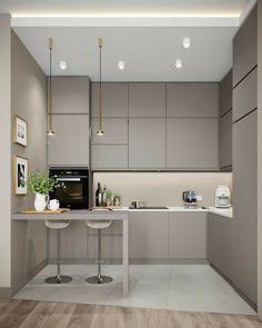 Kitchen Room Design, Luxury Kitchen Design, Home Room Design, Kitchen Cabinet Design, Home Decor Kitchen, Interior Design Kitchen, Kitchen Ideas, Modern Kitchen Interiors, Kitchen Modern