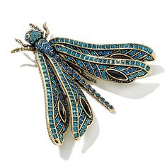 "Heidi Daus ""Wings of Wisdom"" Crystal Dragonfly Pin"
