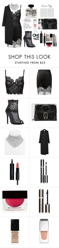 """""""Lace in detail"""" by l-bourdon ❤ liked on Polyvore featuring Givenchy, Gucci, BaubleBar, PALLAS and Oris"""